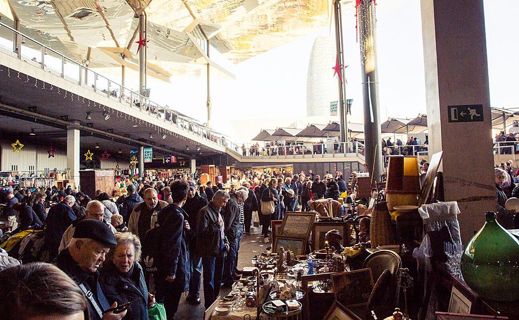 Inside Els Encants Vells craft market