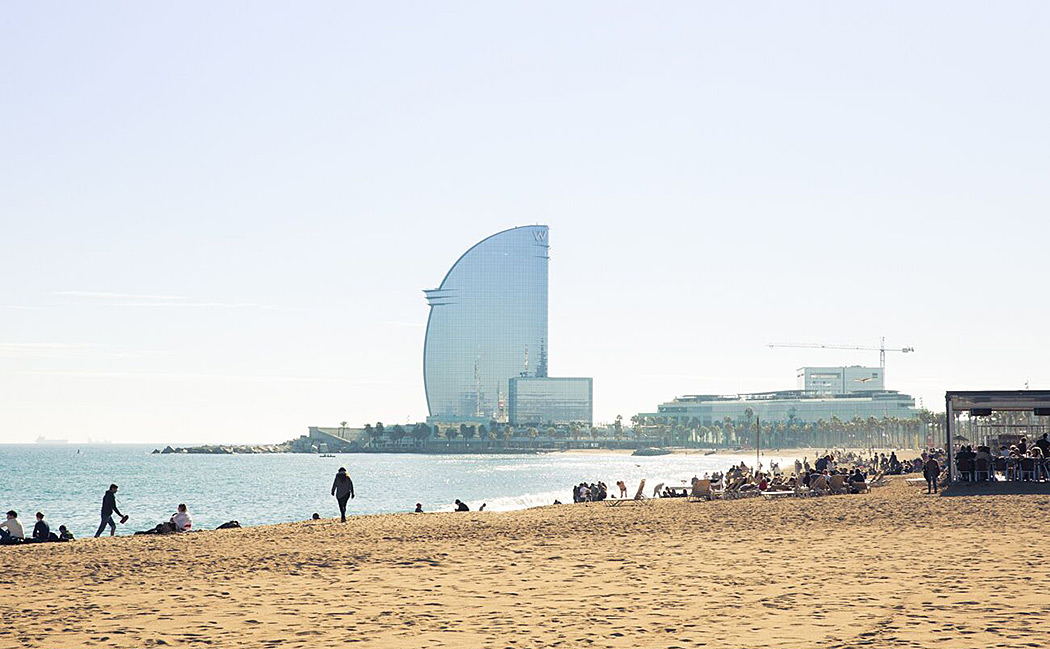 W Barcelona from the beach