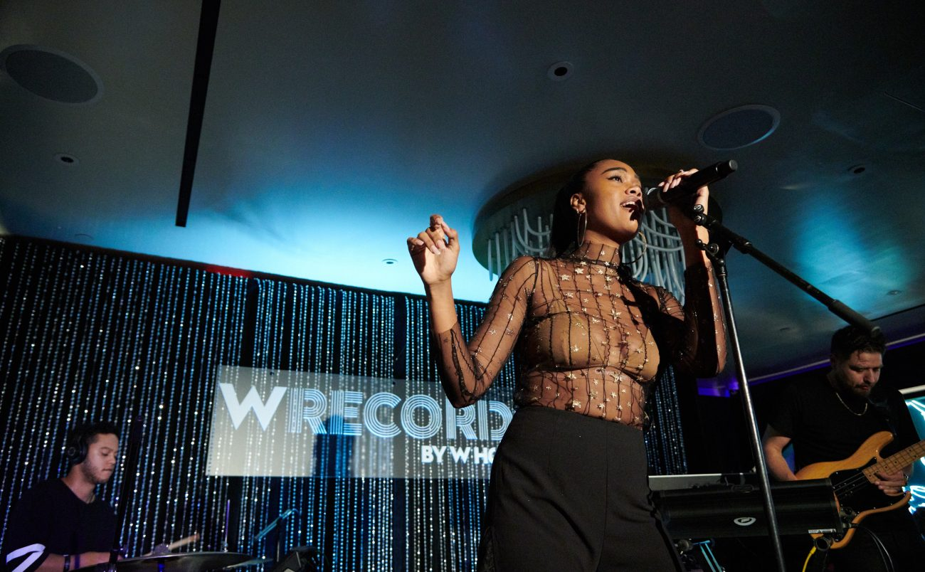Scenes from the launch of W Records with Amber Mark held at W New York – Times Square on Wednesday, Oct. 10, 2018, in New York. (Photo by Loren Wohl/Invision for W Hotels Worldwide/AP Images)